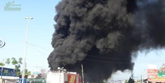 تصادف کامیون و تریلر نفت کش در مازندران + عکس