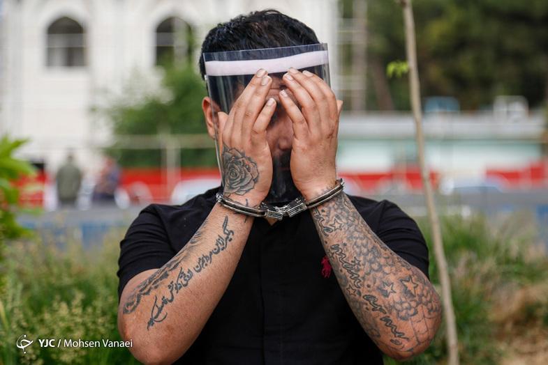 خالکوبیهای سارقان دستگیرشده در طرح رعد + عکس
