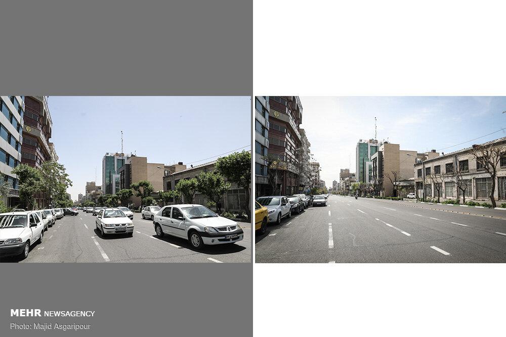 تهران با فاصله پنجاه روز! + عکس
