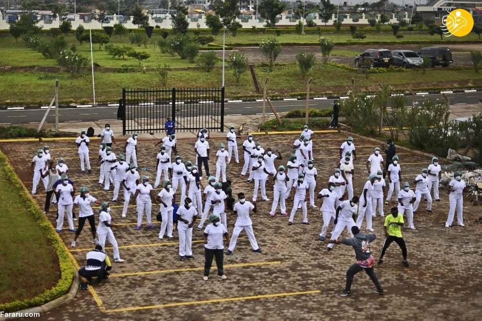 رقص زومبا توسط پرستاران برای تقویت روحیه! + عکس