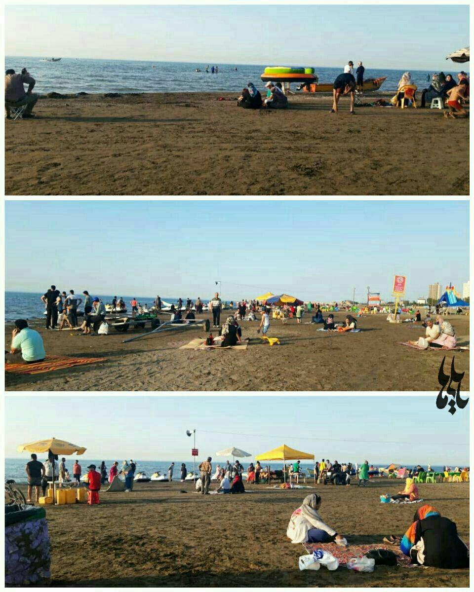 سواحل بابلسر امروز در هجوم مسافران! + عکس