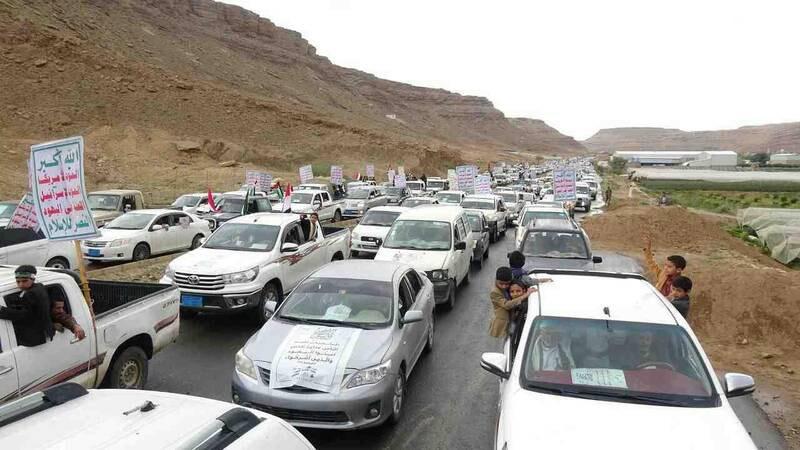 راهپیمایی روز قدس خودروها در یمن + عکس