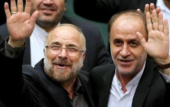 خوشوبش قالیباف با حاجیبابایی و آقا تهرانی + عکس