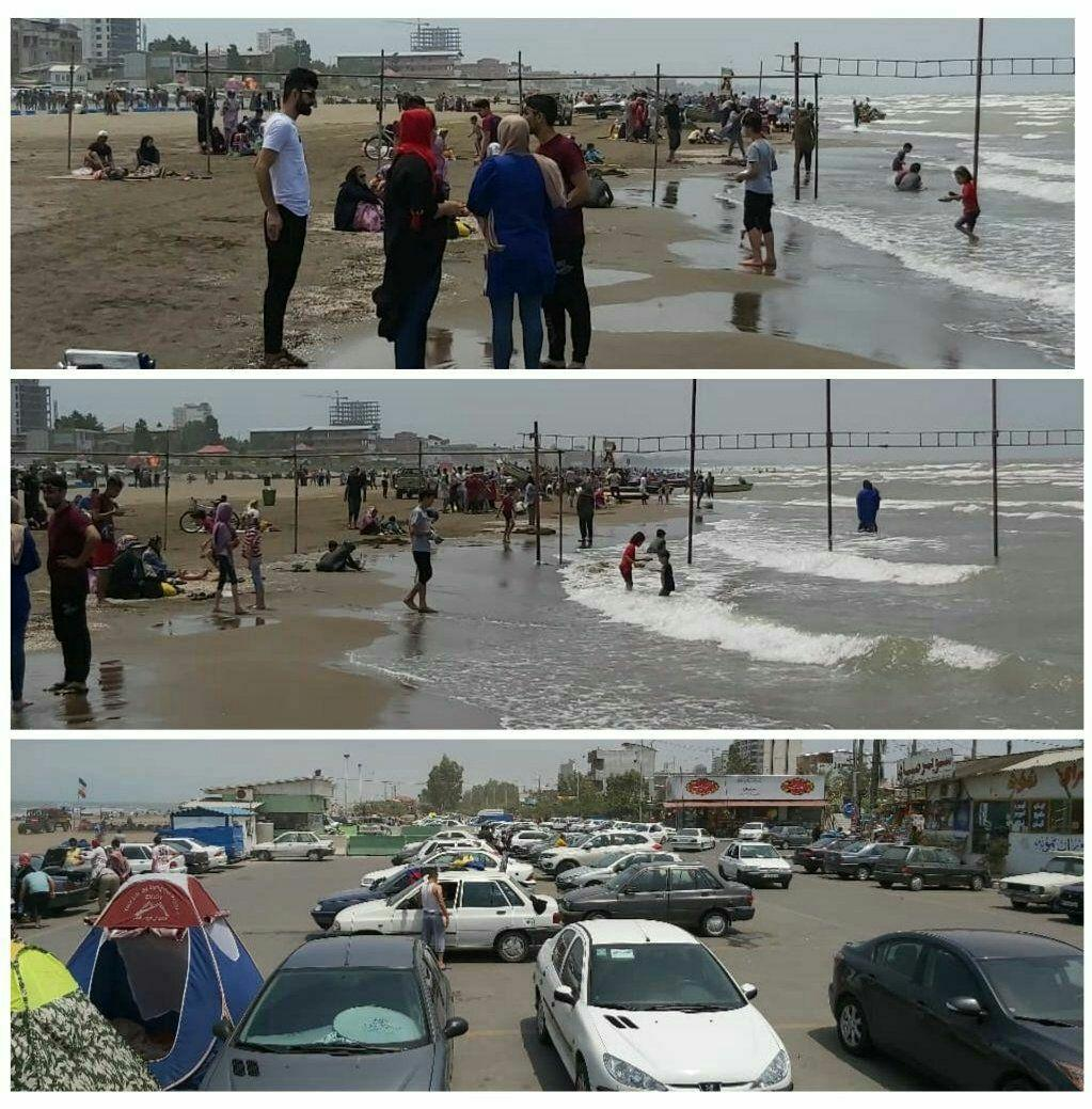ساحل بابلسر امروز ۱۴ خرداد +عکس