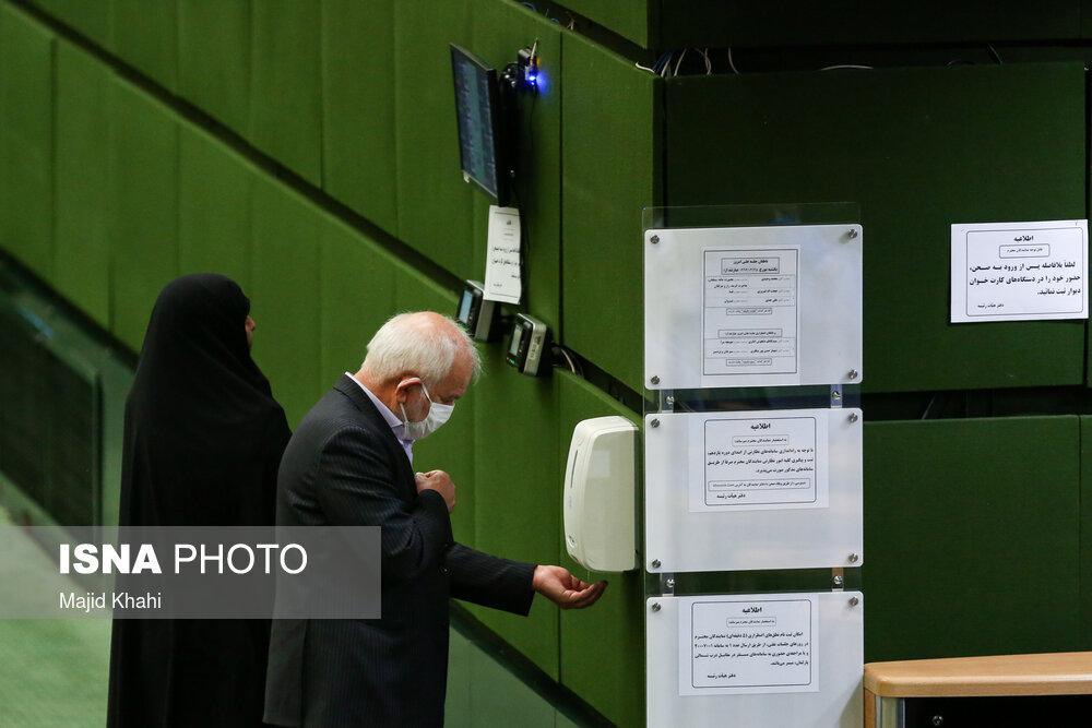 دستگاه مایع ضدعفونی در مجلس + عکس