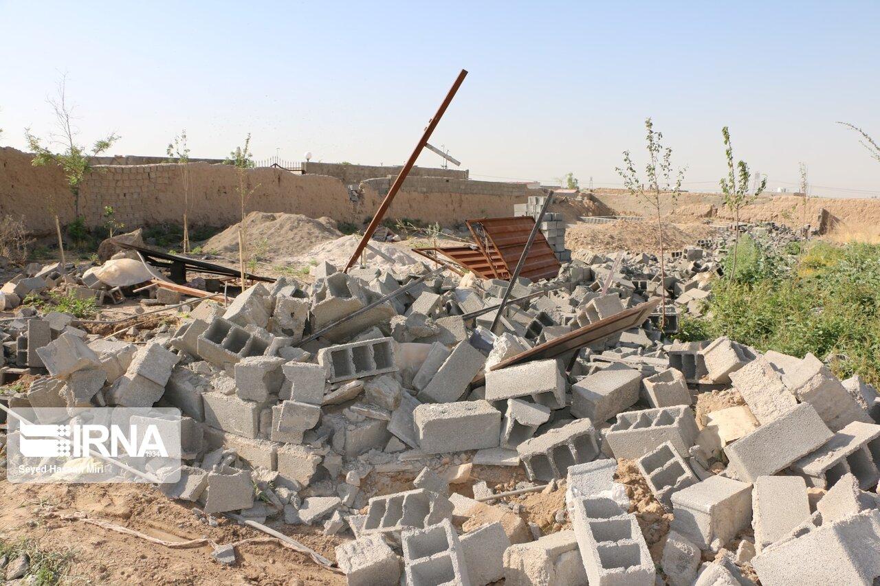 تخریب 40 باغ ویلا در ورامین + عکس