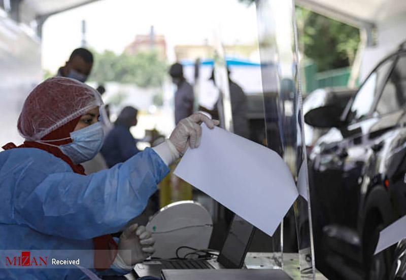 تست کرونا از رانندهها در مصر + عکس