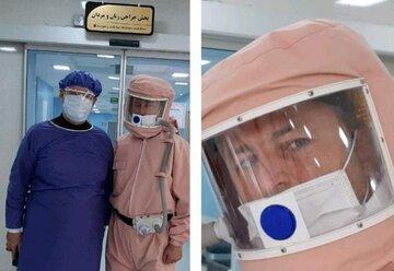 لباس محافظتی کادر درمانی با قابلیت تصفیه هوا+ عکس