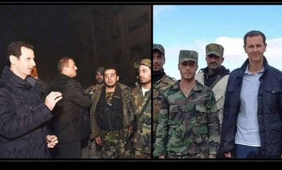 پوشیدن یک ژاکت توسط بشار اسد جنجالی شد + عکس