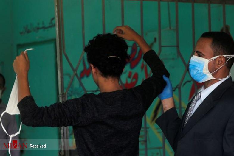 امتحان دانش آموزان مصری با کرونا + عکس