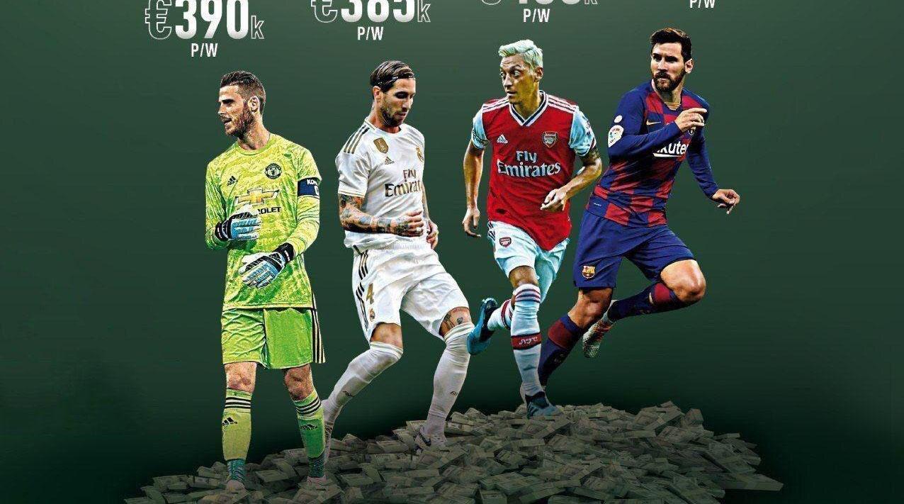 بالاترین دستمزد بازیکنان فوتبال در هر پست چقدر است؟ + عکس