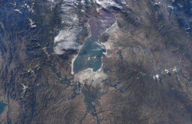 دریاچه ارومیه از چشمانداز ایستگاه فضایی + عکس