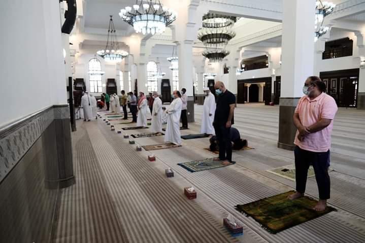 بازگشایی مساجد قطر در دوران کرونایی + عکس