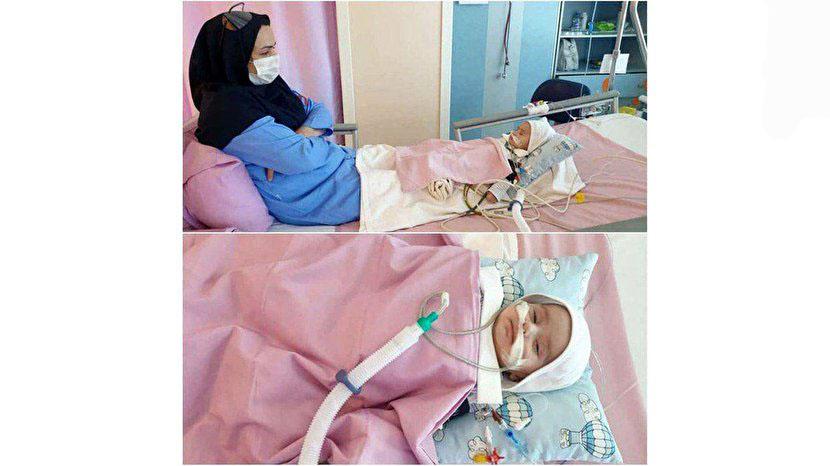 مراقبت عاشقانه یک پرستار از نوزاد دو ماهه + عکس