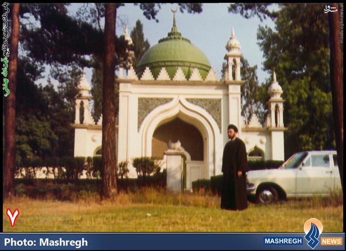 شهید بهشتی در مرکز اسلامی هامبورگ آلمان + عکس