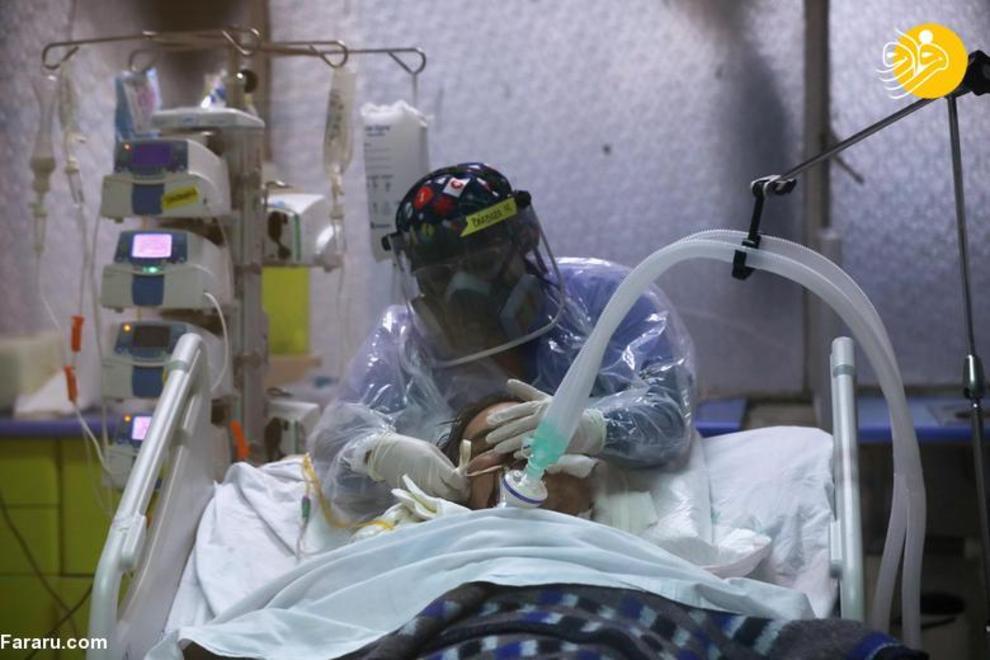 مرگ و زندگی بیماران کرونایی در آی سی یو + عکس