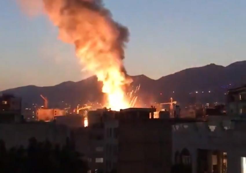 لحظه انفجار وحشتناک یک مرکز درمانی در تهران + فیلم