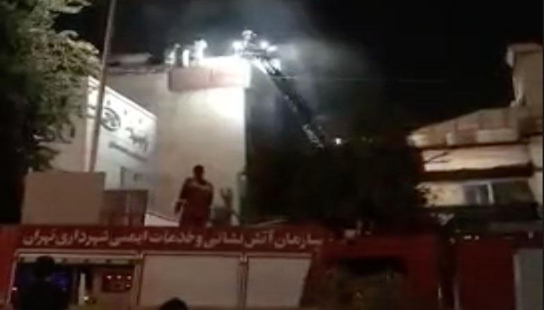 نجات اهالی ساختمان محل انفجار در خیابان شریعتی تهران + فیلم