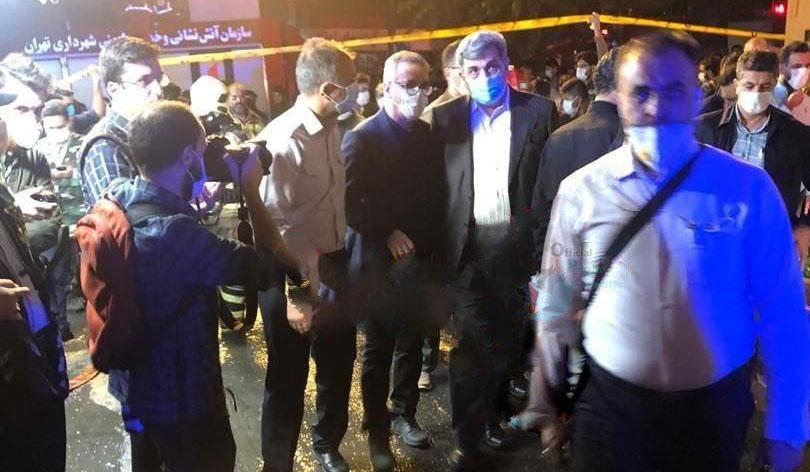 تایید فوت ۱۳ نفر در حادثه انفجار/حضور شهردار تهران در محل آتش سوزی + عکس