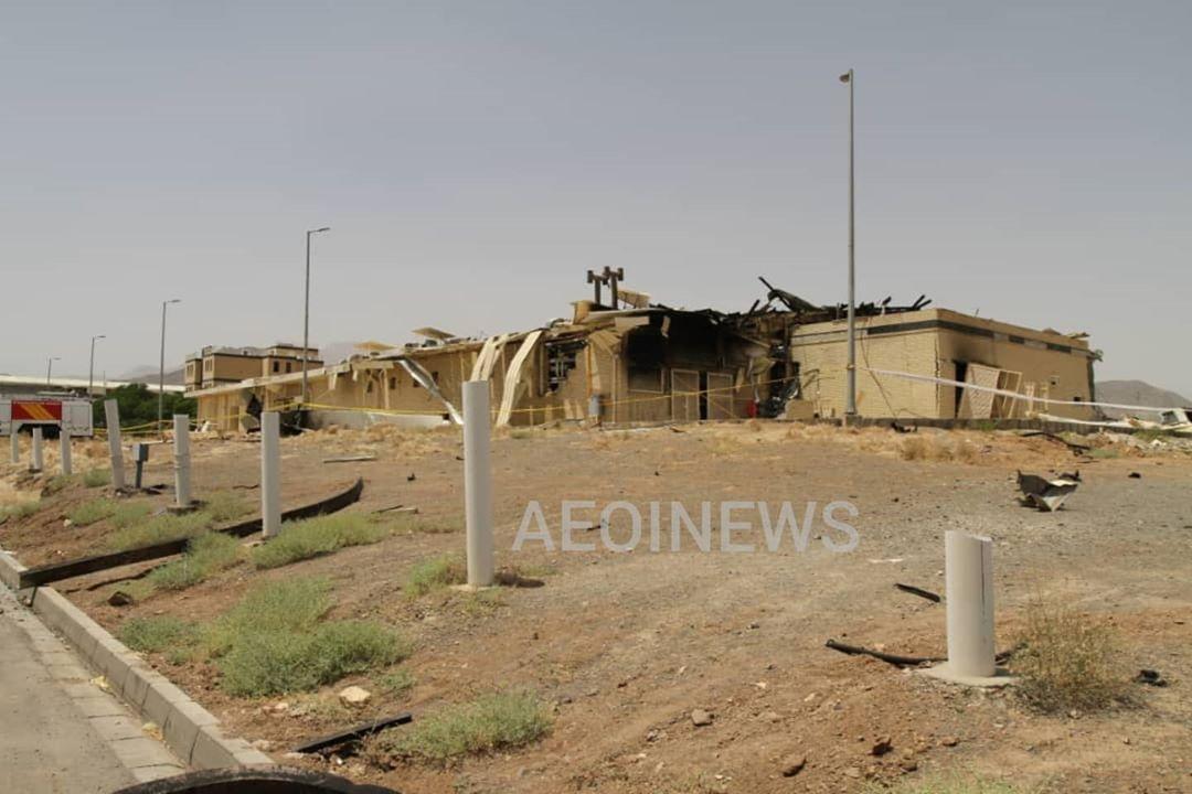 تصویر منتشر شده از حادثه امروز در سایت هسته ای نطنز + عکس
