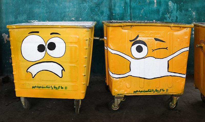 ابتکار جالب شهرداری برای ترویج ماسک زدن/ تصاویر