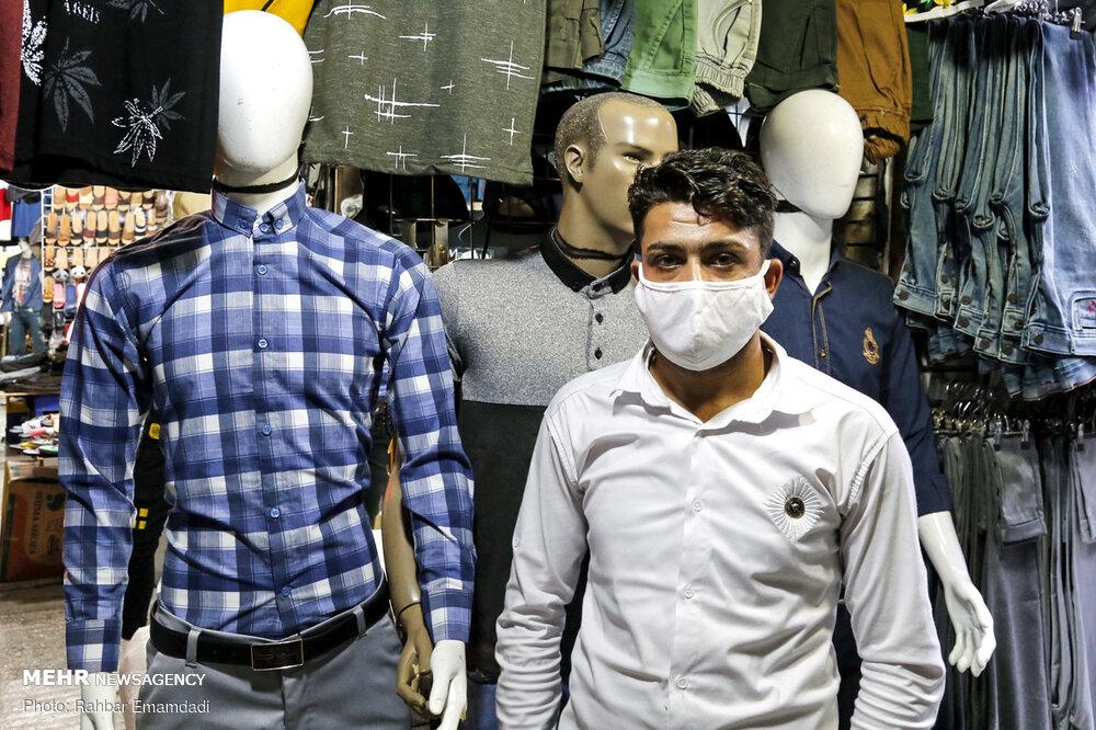 همراهی مردم بندرعباس در استفاده از ماسک + عکس