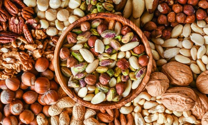 6 مغز دانه برای کاهش وزن