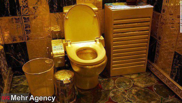 توالتی از جنس طلا و جواهر! + عکس