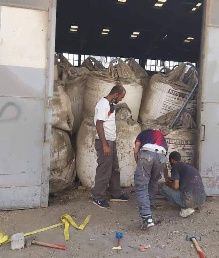 نگهداری غیراصولی مواد شیمیایی قابل انفجار در بندرگاه بیروت + عکس