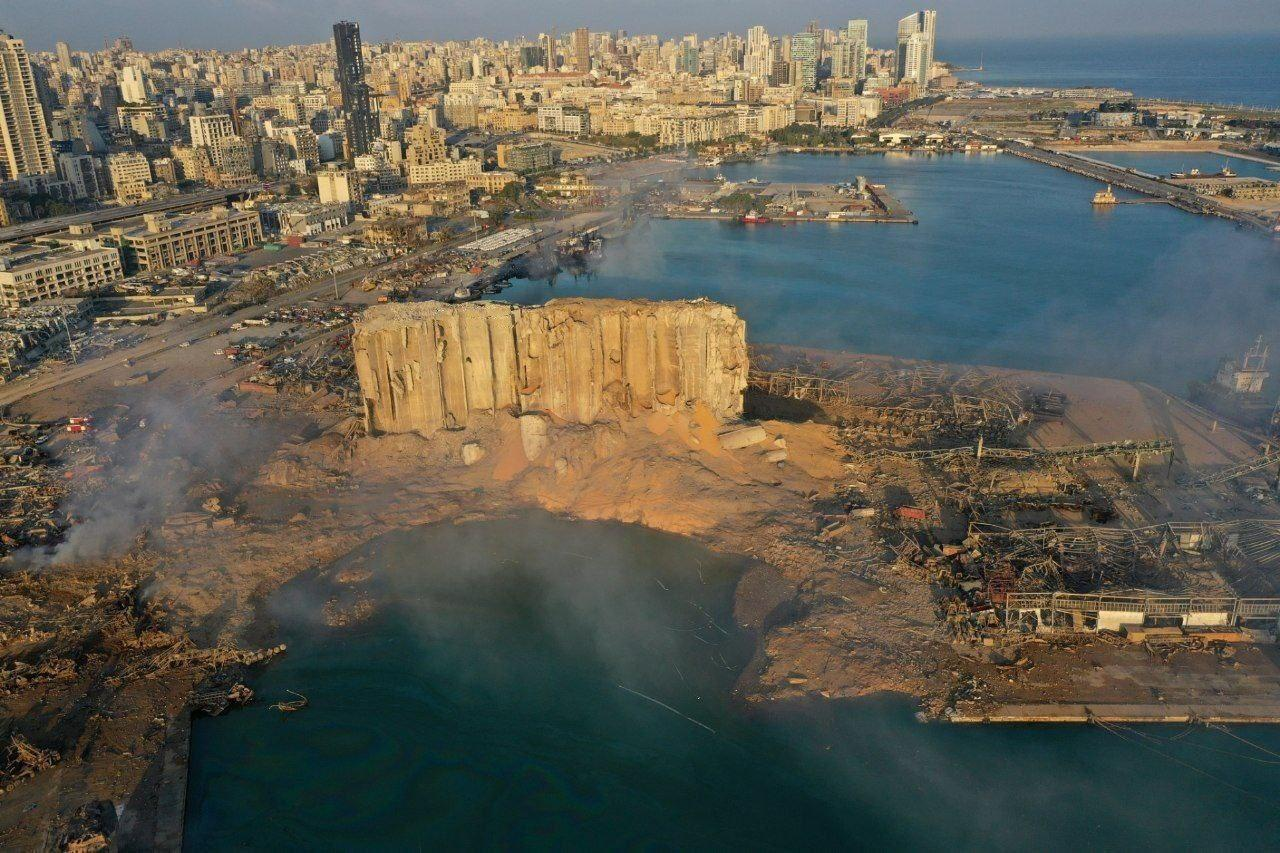 تصویر هوایی بهت آور ازمحل انفجار بیروت + عکس