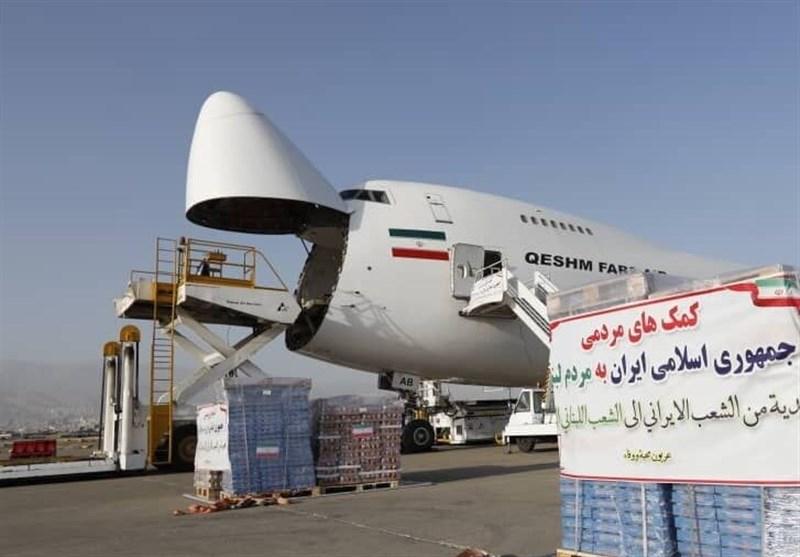 اولین محموله کمکهای ایران به بیروت وارد شد+عکس