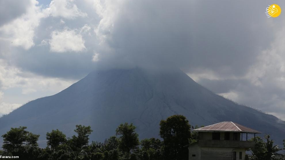 فوران آتشفشان سینابونگ در اندونزی + عکس
