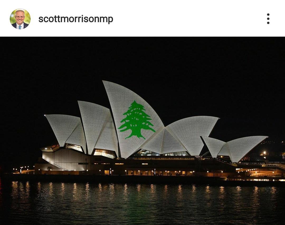 همدردی استرالیا با مردم لبنان + عکس