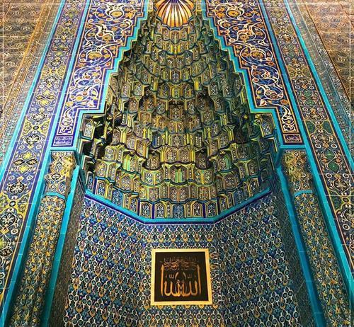 زیباترین مسجد ترکیه، کار استادکاران ایرانی  + عکس