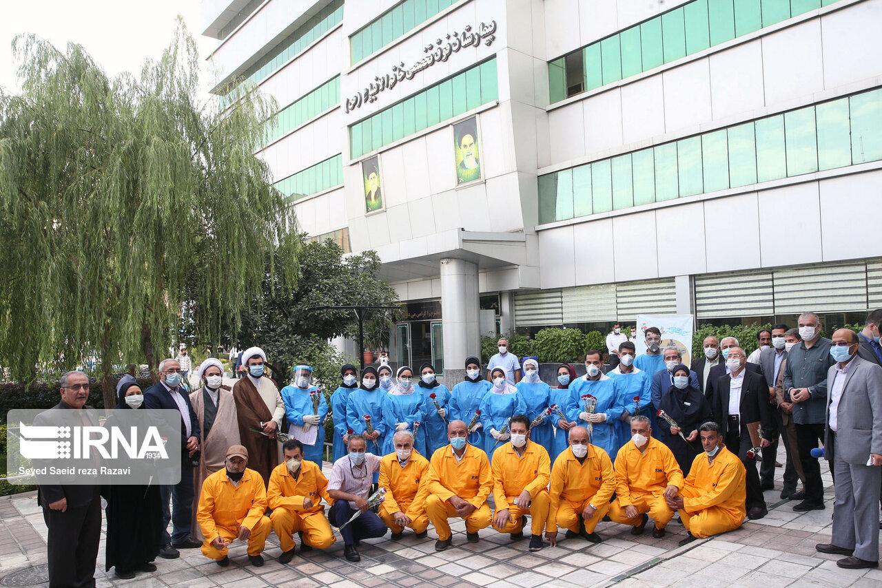 قدردانی آزادگان از مدافعان سلامت+ عکس