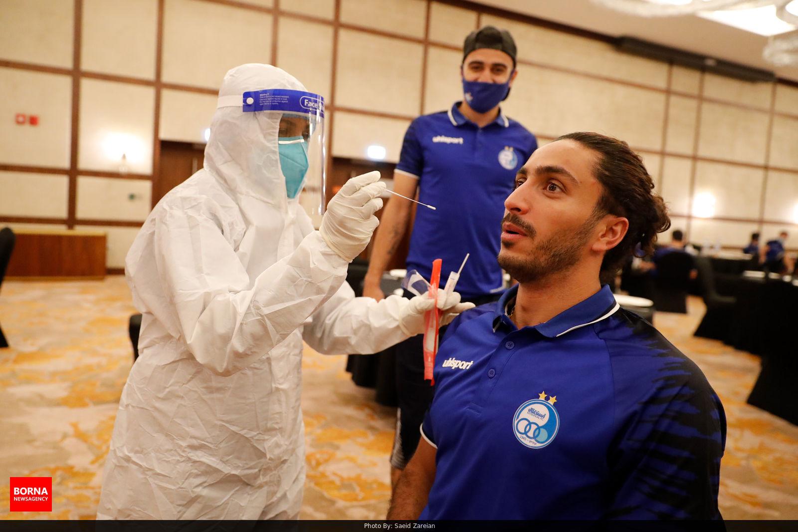 تست کرونای تیم استقلال در قطر + عکس