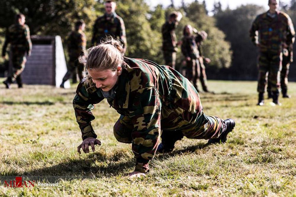 آموزش های نظامی ملکه آینده بلژیک + عکس