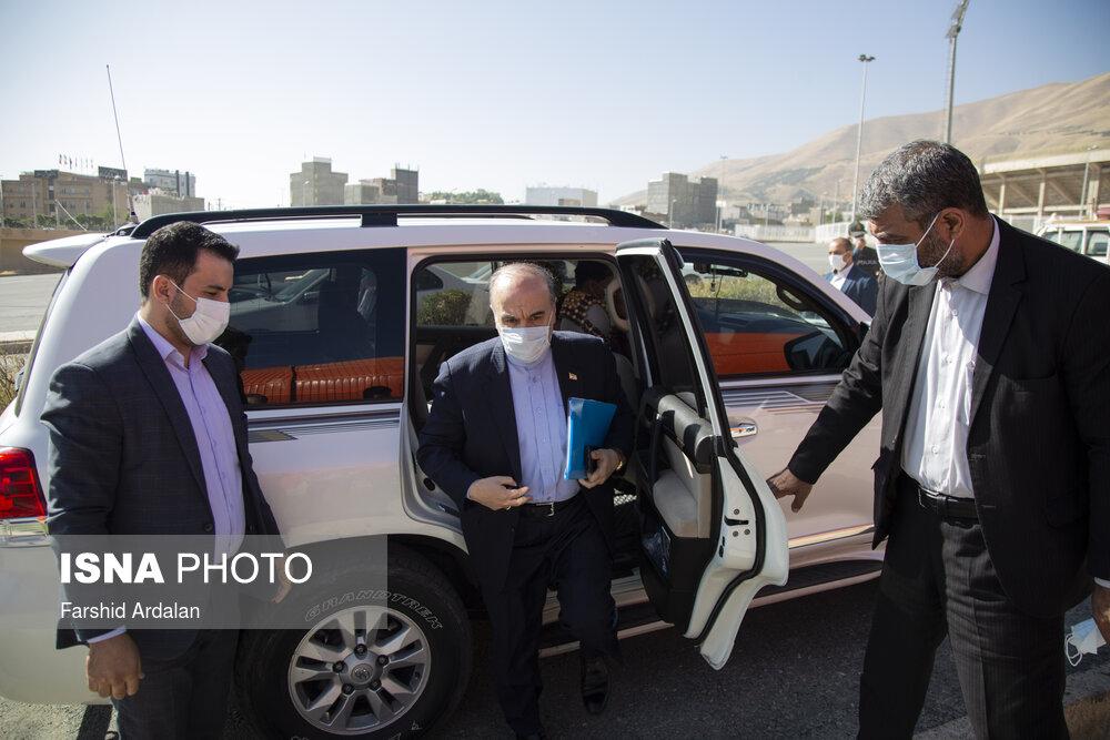 خودروی وزیر ورزش در سفر به کردستان + عکس