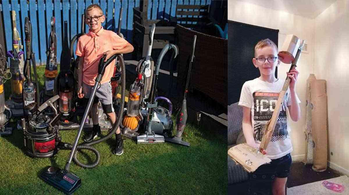 مهارت کودک ۸ ساله در تعمیر جاروبرقی کاسبیاش را سکه کرد! + عکس