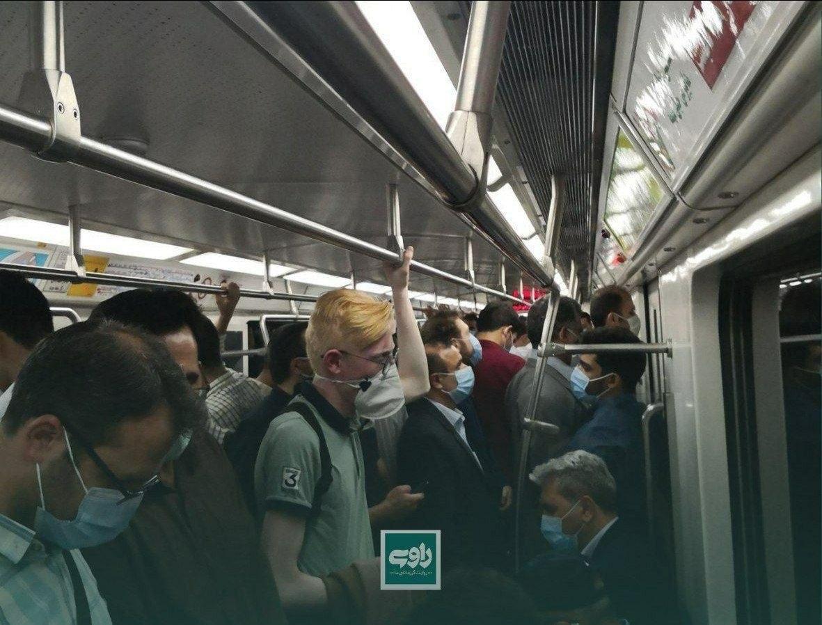 وضعیت مترو در روز قرمز تهران! + عکس