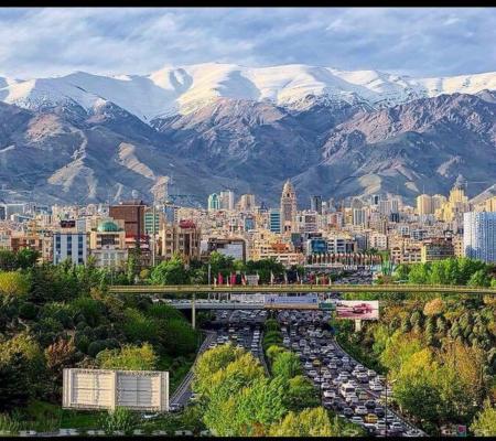 تصویری زیبا از شهر تهران
