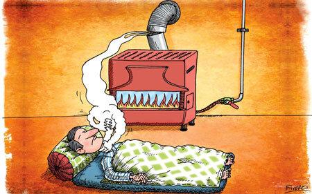 به این دلایل کنار بخاری نخوابید+اینفوگرافیک