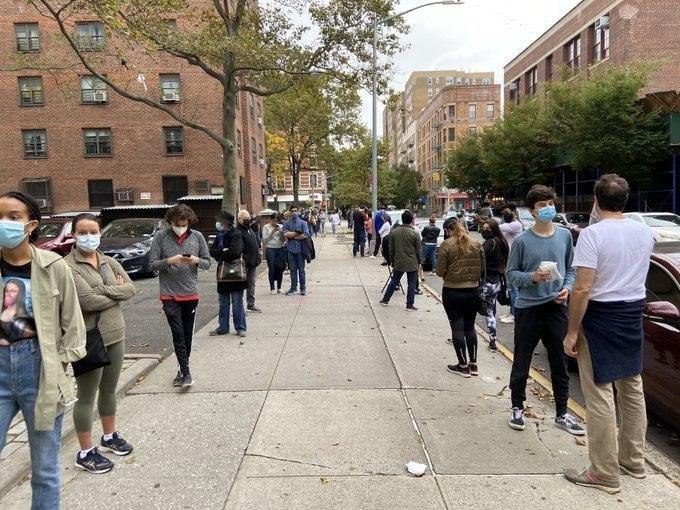 صف های فوق العاده شلوغ انتخابات آمریکا در شهر نیویورک + عکس