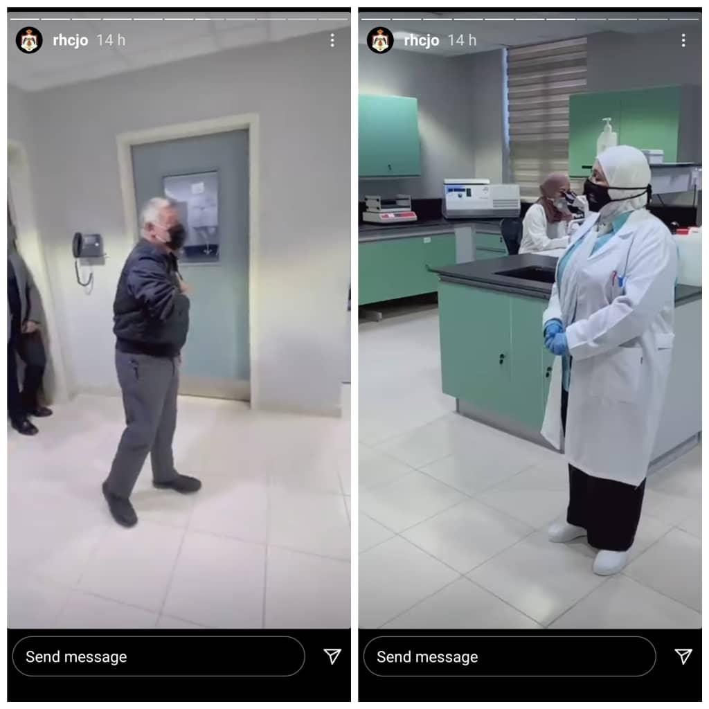 نحوه عرض ادب پادشاه اردن به پزشک+ عکس