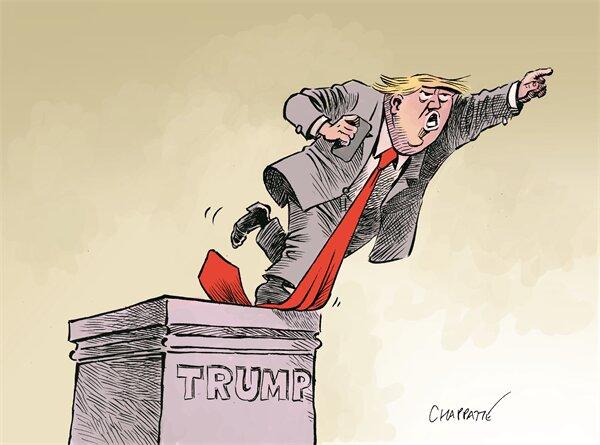 مجسمه ترامپ بعد از نتایج انتخابات! + عکس