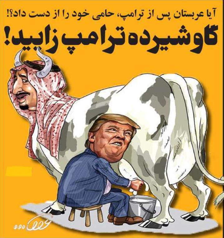 گاو شیرده ترامپ زایید؟! + عکس