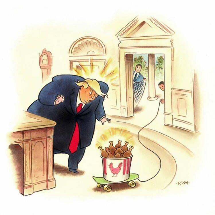 اینطوری ترامپ رو از کاخ سفید بیرون میکشن! + عکس