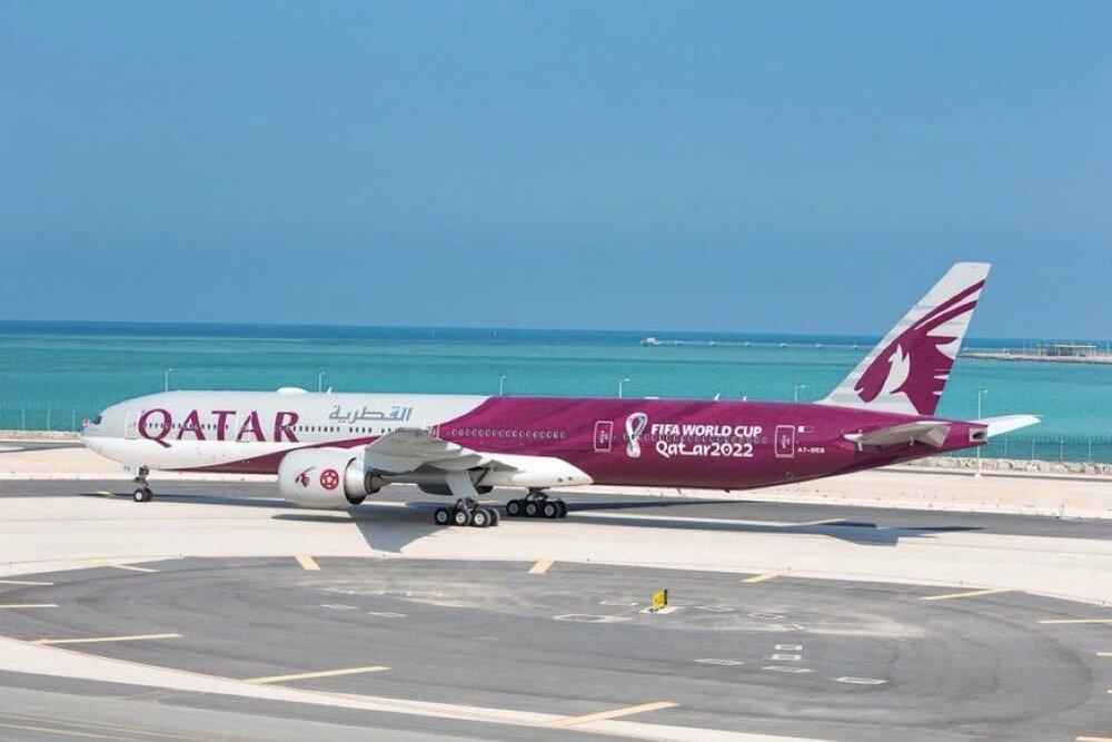 رونمایی قطر از اولین هواپیمای اختصاصی جامجهانی +عکس