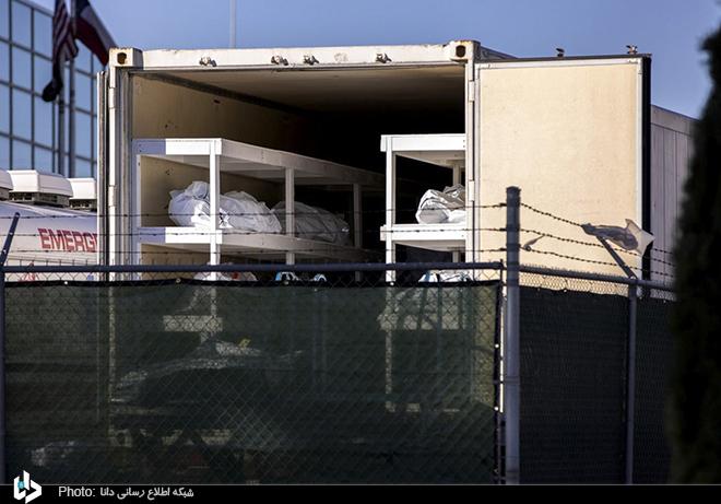 سردخانه سیار اجساد قربانیان کرونایی در تگزاس + عکس