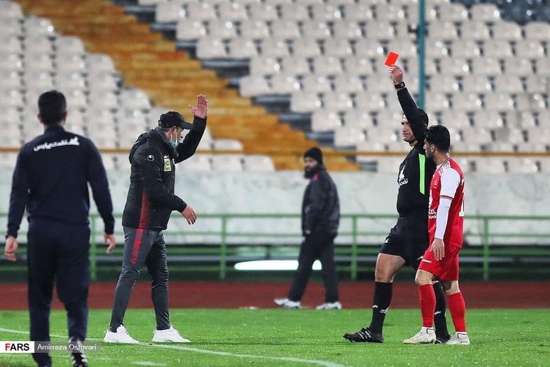 حرکات عجیب گل محمدی در بازی امروز پرسپولیس + عکس